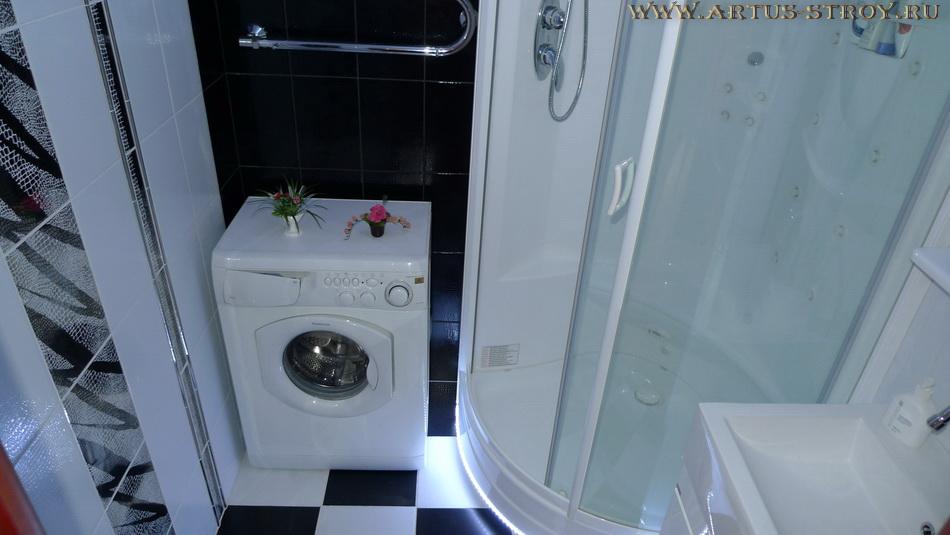 Пример выполненного последовательного ремонта в ванной комнате 1.70х1.70 кв.м.