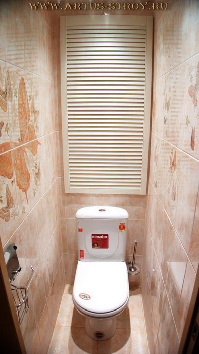 ремонт маленького туалета панелями фото